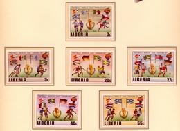 CAMPEONATO DEL MUNDO DE FÚTBOL , ESPAÑA 82 , SELLOS NUEVOS ** , EXCELENTE CALIDAD , LIBERIA SIN DENTAR - Fußball-Weltmeisterschaft