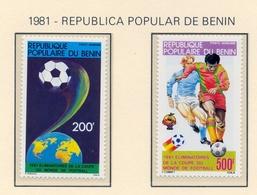 CAMPEONATO DEL MUNDO DE FÚTBOL , ESPAÑA 82 , SELLOS NUEVOS ** , EXCELENTE CALIDAD , BENIN - Fußball-Weltmeisterschaft