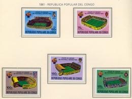 CAMPEONATO DEL MUNDO DE FÚTBOL , ESPAÑA 82 , SELLOS NUEVOS ** , EXCELENTE CALIDAD , CONGO SIN DENTAR - Fußball-Weltmeisterschaft