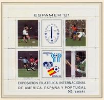 CAMPEONATO DEL MUNDO DE FÚTBOL , ESPAÑA 82 , HOJA BLOQUE ** , EXCELENTE CALIDAD , ARGENTINA - 1982 – Spain