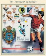 CAMPEONATO DEL MUNDO DE FÚTBOL , ESPAÑA 82 , HOJA BLOQUE ** , EXCELENTE CALIDAD , DJIBOUTI - 1982 – Espagne