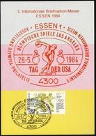 Germany Essen 1984 / Olympic Games Los Angeles / Philatelic Exhibition / USA Day / MC / Athletics- Discus - Verano 1984: Los Angeles