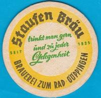 Staufen Bräu Göppingen ( Bd 1656 ) 85 Mm - Beer Mats