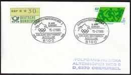 Germany Garmisch-Partenkirchen 1986 / Olympic Games 1936 / 50 Jahre Olympiaort Briefmarkenausstellung - Winter 1936: Garmisch-Partenkirchen