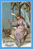 Bonne Année Frohliches Neujahr Happy New Year Ange Cloche - Angeli