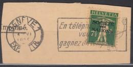 SCHWEIZ Intern. Ämter: SDN 30, Gestempelt, Auf Briefstück, 1927 - Service
