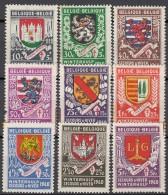 BELGIEN  535-543, Postfrisch **,  Winterhilfe: Stadtwappen 1941 - Belgium