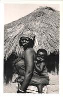 Portuguese Guinea Guinee Guiné-Bissau - Menino Futa-Fula às Costas - Child Boy Rppc Photo Postcard - Guinea-Bissau