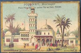 Chromo Horlogerie Horloger Joignet Doré Litho Gibert Clarey Tours Place Plumereau Exposition 1900 Algérie Invalides - Chromos
