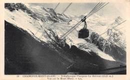 74 - CHAMONIX-MONT-BLANC - Téléphérique Planpraz - Le Brévent - Vue Sur Le Mont-Blanc - Chamonix-Mont-Blanc