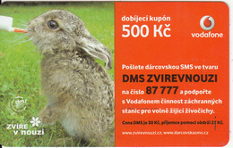 CZECH REPUBLIC - Rabbit, Vodafone Prepaid Card 500 Kc, Exp.date 24/09/12, Used - Rabbits