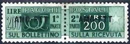 TRIESTE 1949 Parcel Post 200l Mint Pair - Paketmarken/Konzessionen
