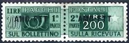 TRIESTE 1949 Parcel Post 200l Mint Pair - Pacchi Postali/in Concessione