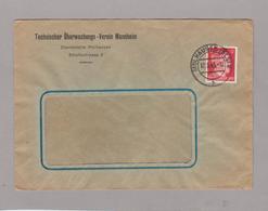 LSC 1943 Avec Timbre  HITLER - Cachet MOLHAUSEN- Entête Technscher Uberwachungs - Verein Mannheim - Germany