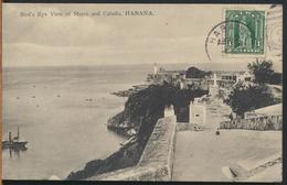 °°° 10951 - CUBA - HABANA - BIRD'S EYE VIEW OF MORRO AND CABANA - With Stamps °°° - Cuba