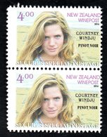 New Zealand Wine Post Courtney Windju Wine Stamp Pair - New Zealand