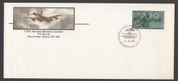 MILITARY -  Mynarsky Memorial Lancaster Bomber  - Special Cancel - Enveloppes Commémoratives