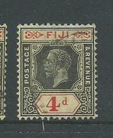 Fiji 1922 - 27 KGV 4d Die II FU - Fiji (...-1970)