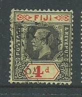 Fiji 1922 - 27 KGV 4d Die II FU , Part Sydney Cds - Fiji (...-1970)
