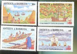 ANTIGUA  & BARBUDA   1096-9  MINT NEVER HINGED SET OF STAMPS  OF DISCOVERY OF AMERICA 500th ; SHIPS - Barcos