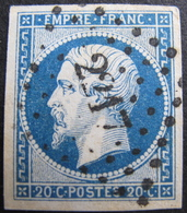 LOT R1752/202 - NAPOLEON III N°14A - LUXE - BEAU PC 2217 : NANCY (Meurthe) - 1853-1860 Napoleon III