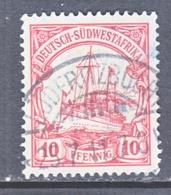 SOUTH-WEST AFRICA  28  (o)   LUDERTZBUCHT   Type  II  Cd. Wmk. - Colony: German South West Africa