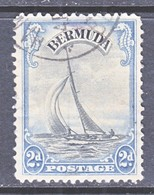 BERMUDA  108  (o)  Wmk. 4   SAILBOAT - Bermuda