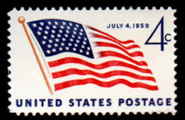 USA,1959, Scott #1130, 49 Star Flagl, MNH, VF - United States