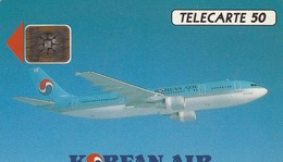 TELECARTE 50   KOREAN AIR AVEC AVION - Airplanes