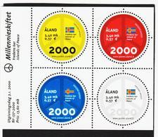 FCC838 ALANDINSELN 2000 Michl Block 4 ** Postfrisch ZÄHNUNG SIEHE ABBILDUNG - Ålandinseln