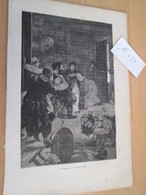 GRAVURE Extraite De Livre De 1850 Environ VICTOR HUGO - NAPOLEON LE PETIT - PENDANT LE MASSACRE , La Page Fait 18x27 Cm - Non Classés