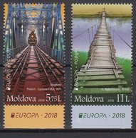 MOLDOVA 2018 EUROPA CEPT.BRIDGES.SET 2 STAMPS.MNH - 2018