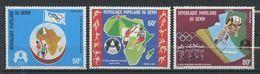 BENIN 1978 N° 415/417 ** Neufs MNH Superbes Cote 2,75 € Sports Jeux Africains D'Alger Cyclisme Basket Volley - Benin - Dahomey (1960-...)