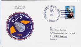 1997 USA  Space Shuttle Discovery STS-82 Commemorative Cover - FDC & Commemoratives