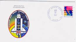 1997 USA  Space Shuttle Discovery STS-85 Commemorative Cover - FDC & Commemoratives