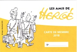 Les Amis De Hergé ADH Carte De Membre 2018 Tintin Kuifje - Hergé