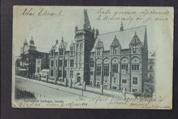CPA ANGLETERRE - LEEDS - Yorkshire College - TB PLAN Façade Etablissement + TB Oblitération 1902 Verso - Leeds