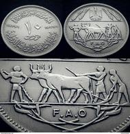 EGYPT - 10 Piastres - Km 418 -1970 - AUNC - FAO - Oxen - Egypt