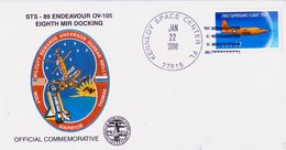 1998 USA  Space Shuttle  Endeavour STS-89 Commemorative Cover - FDC & Commemoratives
