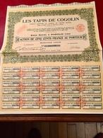 LES   TAPIS   De  COGOLIN   --------Action  De  500 Frs - Industrie