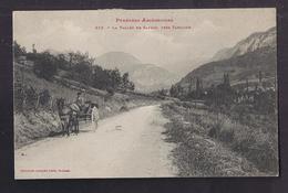 CPA 09 - SAURAT - La Vallée De Saurat , Près TARASCON - TB PLAN Route Avec Joli ATTELAGE + Timbre Oblitération 1903 - France
