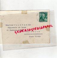 SUISSE - ZURICH- MAENNEDORF 1939- ENVELOPPE POINTU MEGISSERIE PEAUX- SAINT JUNIEN - Switzerland