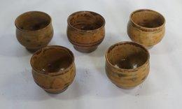5 Ceramic Sake Cups - Cups