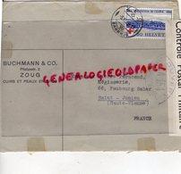 SUISSE - ZOUG-  ENVELOPPE BUCHMANN & CO- PILATUSSTR. 2- CUIRS ET PEAUX- MEGISSERIE PIERRE PERUCAUD-SAINT JUNIEN-1939 - Switzerland