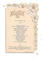 CPA   Menu 1893 Nominatif Gaufré , 2 Scan - Menu