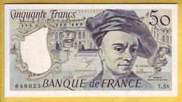 BILLET FRANCAIS - 50 Francs Quentin De La Tour 1989 SUP - 50 F 1976-1992 ''Quentin De La Tour''