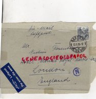 SUISSE - BASEL- DEVANT ENVELOPPE 1939- AIR MAIL-LUFTPOST-ROSENTHAL- HOTEL RPYAL MARBLE LONDON- ENGLAND - Suisse