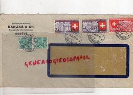 SUISSE - GENEVE- DANZAS & CIE -ENVELOPPE TRANSPORTS INTERNATIONAUX- 1939-EXPOSITION NATIONALE ZURICH - Suisse