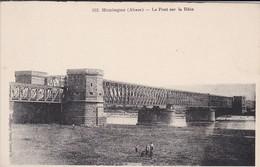 68---RARE---HUNINGUE--le Pont Sur Le Rhin--voir 2 Scans - Huningue
