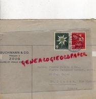 SUISSE - ZOUG -ENVELOPPE BUCHMANN & CO-PILATUSSTR. 2- CUIRS ET PEAUX-PIERRE POINTU -PERUCAUD-SAINT JUNIEN 1945 - Suisse